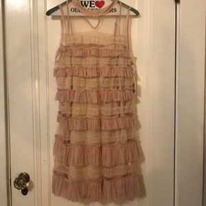 BRAND NEW FREE PEOPLE LACEY DRESS made in INDIA